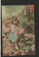 """Enfant,child,kind,nino / Edition IRN Bergeret / Fantaisie Issue D'une Série """" L'Enfant Et Les Fleurs """" - Enfants"""