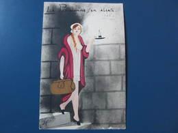 Carte Postale Illustrateur LYS La Parisienne En Alerte - Hansi