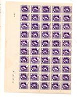 St  1944 Marianne Alger 637 1/2 Feuille ** - Feuilles Complètes