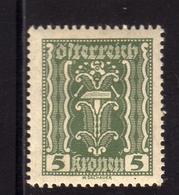 AUSTRIA ÖSTERREICH 1921 LABOR AND INDUSTRY LAVORO E INDUSTRIA 5K MH - Nuovi