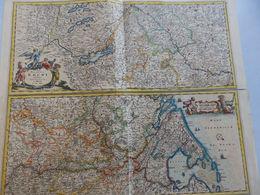 ANCIENNE CARTE TOTIUS FLUMINIS RHENI XIX OU XVIII FORMAT 59 X 50 - Nautical Charts