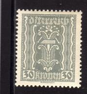 AUSTRIA ÖSTERREICH 1921 LABOR AND INDUSTRY LAVORO E INDUSTRIA 30K MH - Nuovi