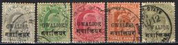 GWALIOR - 1903 - EFFIGIE DEL RE EDUARDO VII - USATI - Gwalior