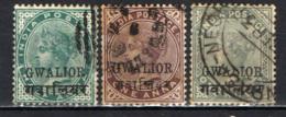 GWALIOR - 1885 - EFFIGIE DELLA REGINA VITTORIA - USATI - Gwalior