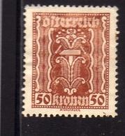 AUSTRIA ÖSTERREICH 1921 LABOR AND INDUSTRY LAVORO E INDUSTRIA 50K MH - Nuovi