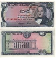 COLOMBIA   100 Peso  Oro  P415a  (20.7.1973)   UNC - Colombia