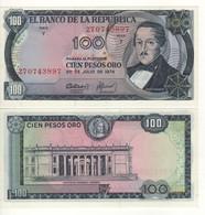 COLOMBIA   100 Peso  Oro  P415b  (20.7.1974)   UNC - Colombia