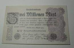 1923 - Allemagne - Germany - 2 MILLIONEN MARK, Berlin, Den 9 Auguft 1923, MV - [ 3] 1918-1933: Weimarrepubliek