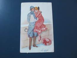 Carte Postale Illustrateur Xavier SAGER La Réfugiée - Sager, Xavier