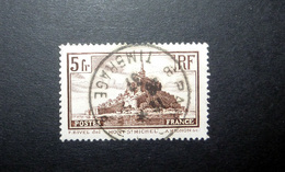 FRANCE 1930 N°260II OBL. (MONT SAINT-MICHEL. 5F BRUN. TYPE II) - Oblitérés