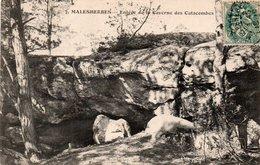 Carte Postale Ancienne - Circulé - Dép. 45 - MALESHERBES - Entrée De La Caverne Des Catacombes - Malesherbes
