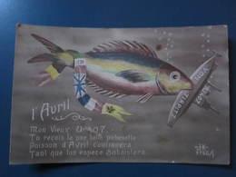Carte Postale 1er Avril - 1° Aprile (pesce Di Aprile)