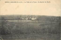 - Val D'oise -ref-664- Boissy L Aillerie - Quartier Du Moulin  -verso Cachet Gardes Des Voies ..- Marcophilie - - Boissy-l'Aillerie
