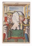 Rare Chromo-devinette Non Publicitaire Belle Époque, Caricature Politique, Image Cachée, N°43 - Trade Cards