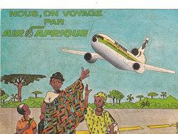 DC 10 AIR AFRIQUE BELLE CPSM CARTE PUZZLE 15X10,5 BEL ETAT VOIR SCANS - 1946-....: Ere Moderne