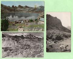 CPSM - ALLOS - 3 CP : Lac D'Allos + Rte Col De La Cayolle + Le Village Et Massif De L'Autapie Sous La Neige - - Autres Communes