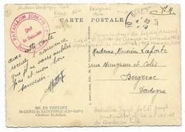 BATAILLON JOSEPH-Secteur Dordogne Sud-...Bergerac 194?  Sur Carte  Résistance RARE (voir Annotations Verso Carte) - Storia Postale