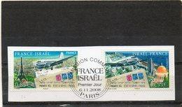 FRANCE   2 Timbres 0,55 € Et 0,85 €   2008   Y&T: 4299 Et 4300   Emission Commune: France/Iraël   Sur Fragment Oblitérés - France