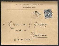 LF D56  Enveloppe De 1894 De Suresnes Timbre N°90 - Marcophilie (Lettres)