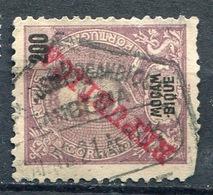 Hexagonal Date Postmark ZAMBEZA On Moçambique,  200 R. 1917, YT 197 - Zambèze