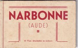 CPA Neuve - 11 - Carnet Narbonne 10 Vues - Narbonne