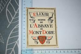 Etiquette Elixir Surfinde L'Abbaye De Mont Dore - Etichette