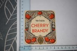 Etiquette Véritable Cherry Brandy Petite - Etichette