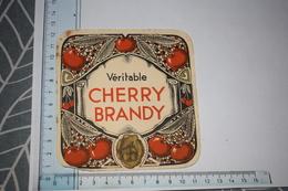 Etiquette Véritable Cherry Brandy Grande - Etichette