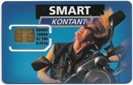 Denmark - Smart Kontakt - Woman On Motorcycle, GSM SIM2 Mini, Mint - Dinamarca