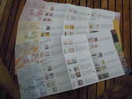 Folders V D Bankbiljetten In BEF, Mét Omschrijving V D Beveiligingen 100 Ensor, 200 Sax, 1000 Permeke 10000 Albert Paola - [ 2] 1831-... : Reino De Bélgica