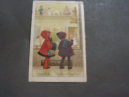 Kinder, Vor Einem Spielzeugladen Auslage Leipzig 1927 Tedy Pupen Usw. - Children And Family Groups