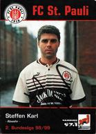 Flyer Photo Couleur Originale Autographe & Dédicace De Steffen Karl Du FC St. Pauli - Hamburg, NRJ 1998/1999 - Football - Autographs