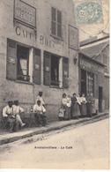 91 Amblainvilliers Le Café, Animée Et Rare - Frankreich