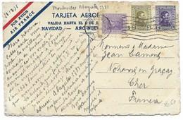 MONTEVIDEO 1935 CARTE AEROPOSTALE De BONNE ANNEE... AIR FRANCE - Uruguay