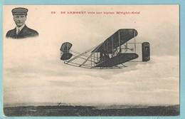 De Lambert Vole Sur Biplan Wright-Ariel - France