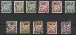 TCHAD / COLONIES Timbres Taxe Cote 23.5 €. N° 1 à 11 * (MH). Série Complète De 11 Valeurs. - Chad (1922-1936)