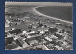 85 - ILE DE NOIRMOUTIER - LA GUÉRINIÈRE - VUE AÉRIENNE - LES 4 MOULINS ET LA COUR - CPSM DENTELÉE - Ile De Noirmoutier