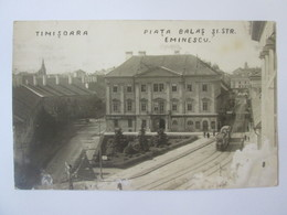 Rare! Romania/Timișoara-Piața Balaș,strada Eminescu,Casa De Amanet Comunala,carte Pos.foto Circulata/degradata1935 - Rumänien