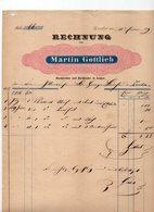 1839 AUSTRIAN EMPIRE, SOMBOR, MARTIN GOTTLIEB, INVOICE ON COMPANY LETTERHEAD, BOOKSELLER AND BOOKBINDER - Autriche