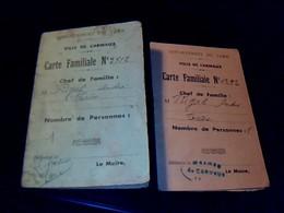 1948 Carnet De Rationnements Cartes Familiales X2   Département Du Tarn Mairie De Carmaux - Mappe