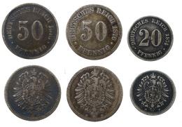 Allemagne Lot 2 X 50 Pfennig 1876 B Et 1876 J + 20 Pfennig 1874 F (8817) - [ 2] 1871-1918: Deutsches Kaiserreich