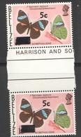 BELIZE  Butterflies 5 ¢ On 15 ¢ Gutter Pair  Sv 386  MMH  ** - Belize (1973-...)