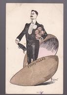 CPA :  Carte écrite Année 1908  Humour   Fiançailles   Timbre 5  Type Semeuse - Réceptions