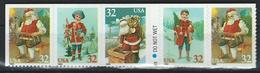 USA. Scott # 3008-11a,  MNH Strip Of 5 From Booklet. Christmas Toys 1995 - 1981-...