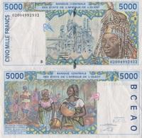 Benin / 5000 Francs / 2002 / P-213B(l) / XF - Benin
