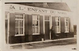 RPCP : Bray Dunes : GHYVELDE :  Café Estaminet: A L'Enfant Du Nord , 2 Scans, - Lieux