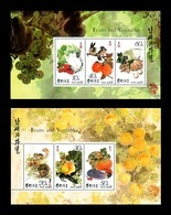 North Korea 1993 Mih. 3445/50 Flora. Fruits And Vegetables (2 M/S) MNH ** - Korea (Nord-)