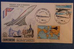 A86 FRANCE LETTRE 1969 CONCORDE + BEL AFFRANCHISSEMENT - France