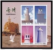 North Korea 2004 Mih. 4744/47 (Bl.573) Lighthouses MNH ** - Korea (Nord-)