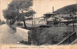 CPA CORNICHE DE L'ESTEREL - Carrière Du Dramont - Francia